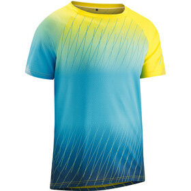 Gonso Meta - Maillot manches courtes Homme - jaune/turquoise